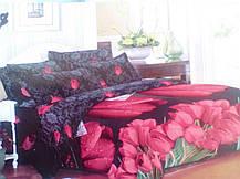 Комплект постельного белья от украинского производителя Polycotton Полуторный T-90967, фото 3