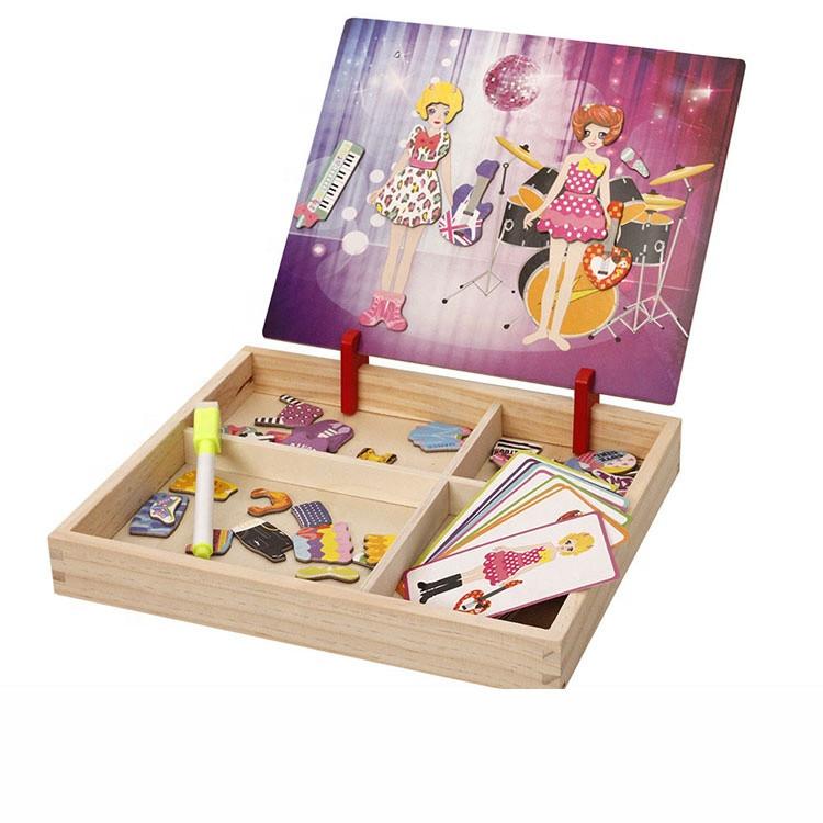 Детский набор магнитных пазлов Muwanzi Рок звезды доска с деревянным лотком