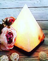 """Соляной светильник """"Пирамида"""" 4-5 кг"""