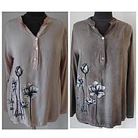 Оригинальная блуза-рубашка.Застегивается на пуговицы. Рукавчик подворачивается. (р.48-50) Код 5417М