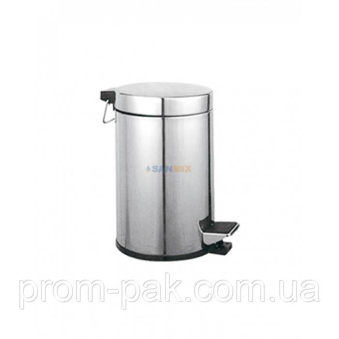 Ведро для мусора металическое с крышкой Potato P413 12л.