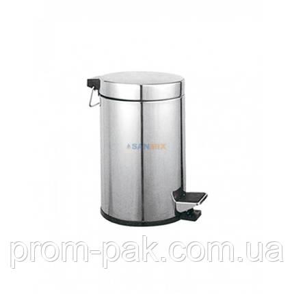 Ведро для мусора металическое с крышкой Potato P413 12л., фото 2