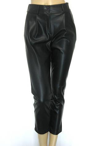 Жіночі шкіряні штани на флісі, фото 2