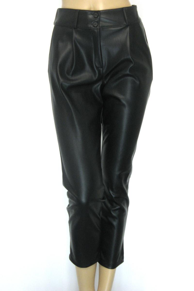 Жіночі шкіряні штани на флісі