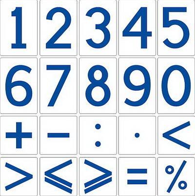 Демонстраційний набір цифр і знаків на магнітах для кабінету математики