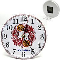Часы настольные круглые Цветы Украины