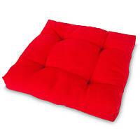 Накидка на стул Кедр на Ливане квадратная стеганная серия Color 35x35x5 см Красный (1032)