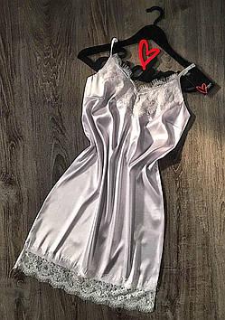 Білий пеньюар з атласу класу Люкс, жіночий одяг для дому та відпочинку