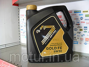 Моторное масло S-oil gold fe 5w30