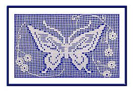 """Вязаный декор """"Бабочка"""" (124-125)"""