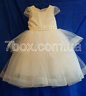 Детское платье бальное Фиерия 4-5 лет Молочное Опт и Розница