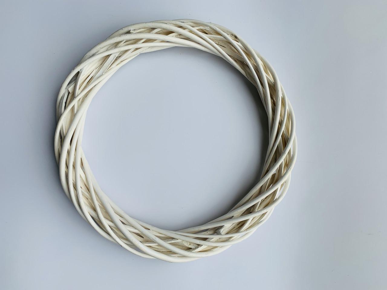 Заготовка для венка белая(25 см)