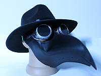 Маска Чумного Доктора в шляпе с очками гогглы, фото 1