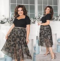 Женское нарядное платье большого размера.Размеры:48-62.+Цвета, фото 1