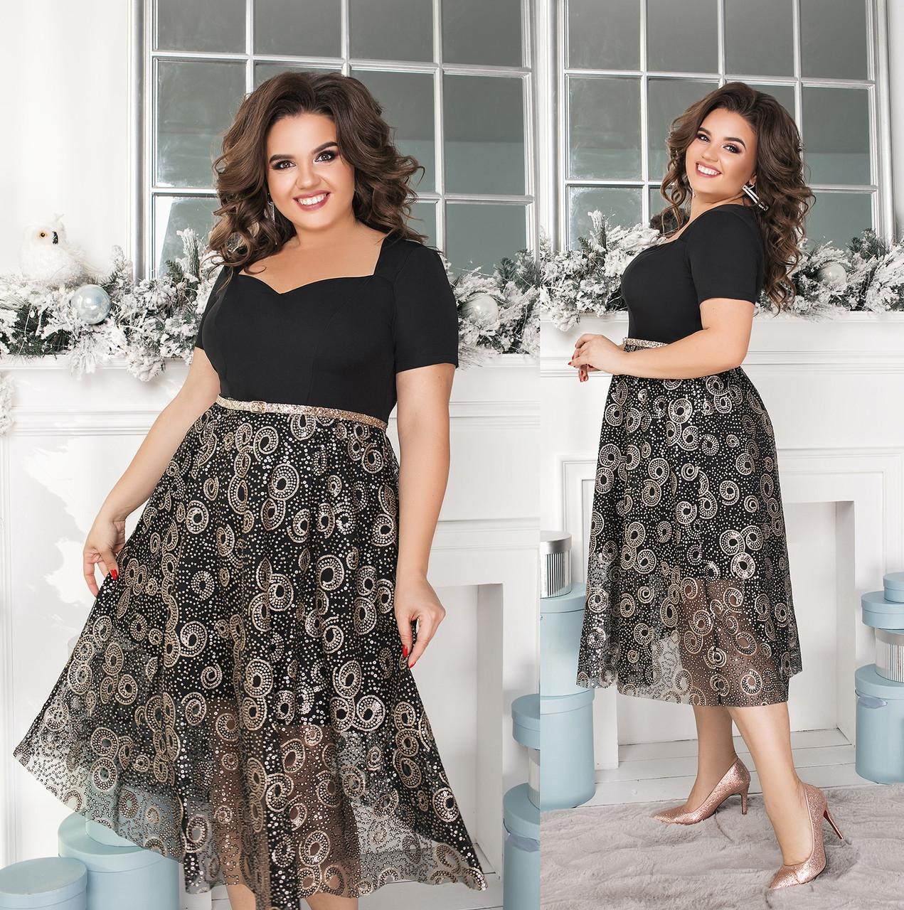 Женское нарядное платье большого размера.Размеры:48-62.+Цвета