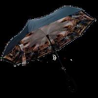 Обратный ветрозащитный зонт UP-Brella+чехол Шикарный вид