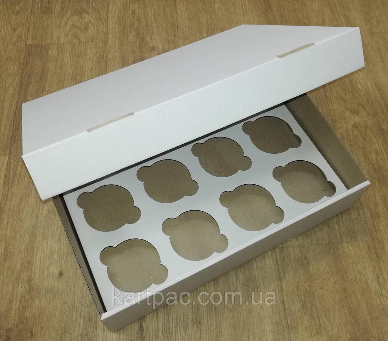Коробка для транспортування кондитерських виробів (на 12 шт) 330х255х80