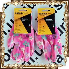Перчатки женские, трикотажные Sigma, полиуретановое покрытие № 9446301