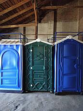 Кабина туалет передвижной автономный зеленый, фото 2
