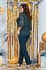 """Брючный женский костюм-двойка """"Пальмира"""" с гипюровой блузой (большие размеры), фото 5"""