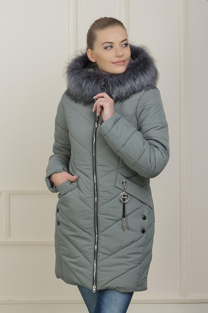 Зимняя куртка  Рокси 2 серая
