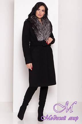 Женское зимнее пальто с большим мехом (р. S, M, L) арт. К-83-81/44595, фото 2
