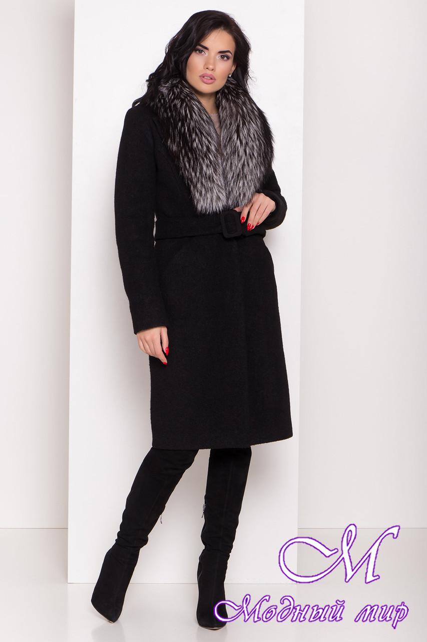 Женское зимнее пальто с большим мехом (р. S, M, L) арт. К-83-81/44595