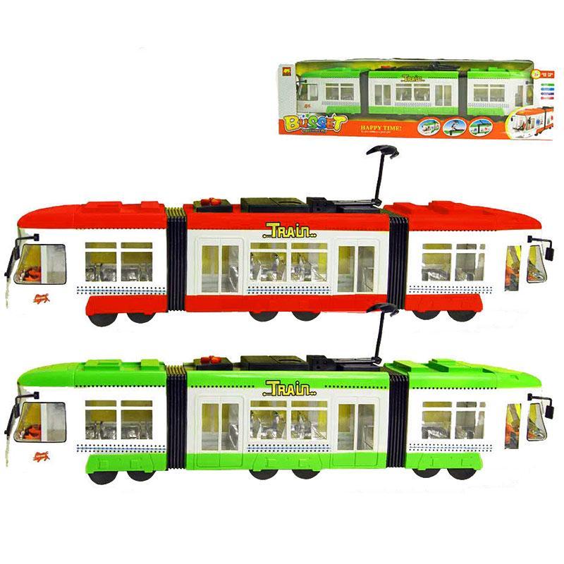 Трамвай 1258  світиться салон, фари, музика