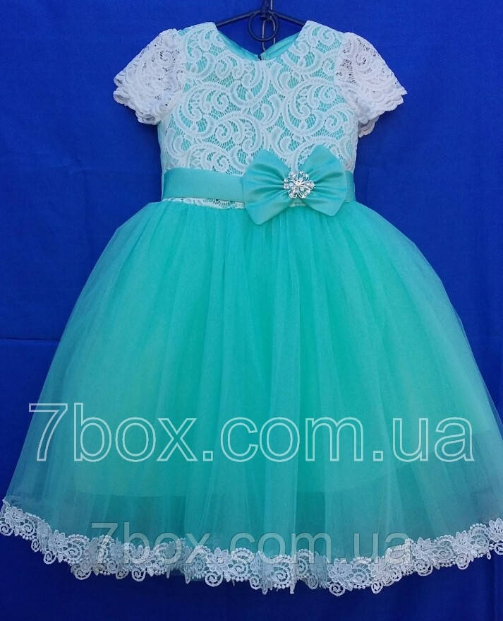 Детское платье бальное Матильда 5-6 лет Мята Опт и Розница