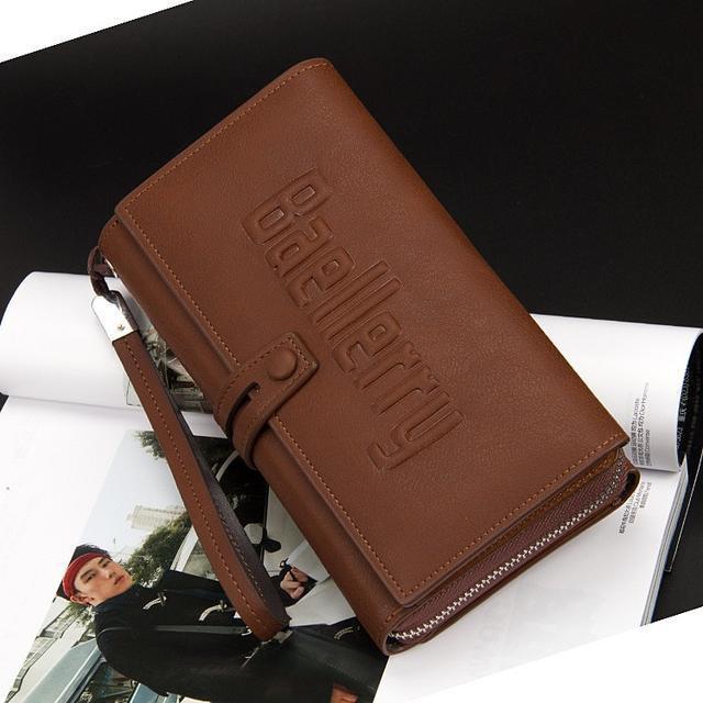 Стильный Кошелек Baellerry S1393 портмоне Черный, коричневый