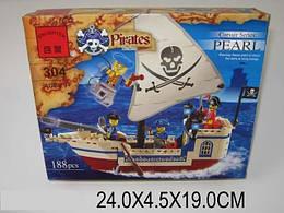 Конструктор BRICK 304 Пираты, 188 дет.