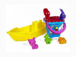 Игрушечная Лодка с песочным набором 01-116