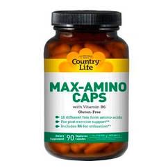 Аминокислоты Max-Amino Caps (90 кап) Country Life