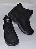Splinter Мужские зимние кожаные ботинки черные