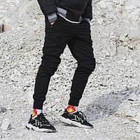 Теплые брюки джоггеры мужские Пушка Огонь Zuren черные