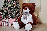 Большой плюшевый медведь Yarokuz Джеральд 165 см Шоколадный