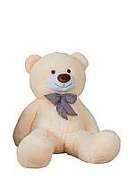 Большой плюшевый медведь Джеральд 165 см Персиковый