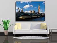"""Картина на холсте """"Биг-Бен, дома парламента и Вестминстерский мост в Лондоне"""""""