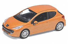 "Машина Welly ""Peugeot 207"", металлическая, масштаб 1:24, 22492W"