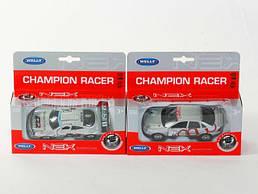 """Машина Welly """"Champion Racer"""", металлическая, масштаб 1:38, 49750W СЕРАЯ"""
