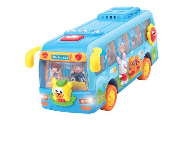 Автобус школьный, музыка, свет, 908
