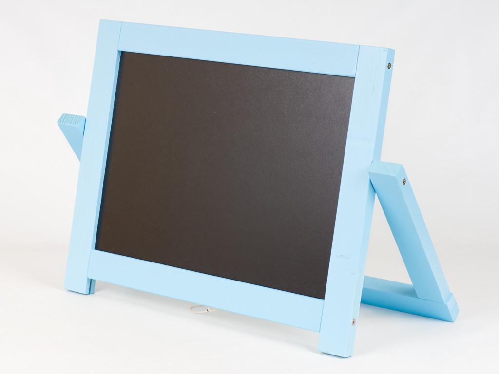 Мольберт двусторонний настольный Голубой (магнит, мел) 45*33,5см, М008