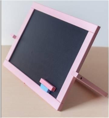 Мольберт двусторонний настольный Розовый (магнит, мел) 450*335см, М011
