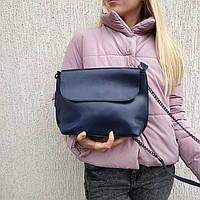 """Женская кожаная сумка """"Патрисия Blue"""", фото 1"""