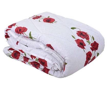 Одеяло закрытое овечья шерсть (Поликоттон) Двуспальное Евро T-51062, фото 2