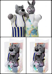 Набір ляльок-рукавиць ВОВК ТА ЗАЯЦЬ (2 персонажа), B076/077
