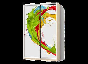 Шкаф-Купе Двухдверный Стандарт-1 Фотопечать Ab069/ ДСП Дуб Молочный, 1000х450х2000 (Luxe-Studio TM)