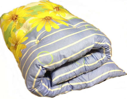 Одеяло закрытое овечья шерсть (Поликоттон) Полуторное T-51135, фото 2