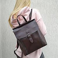 """Женский кожаный рюкзак-сумка (трансформер) """"Милла Dark Brown"""", фото 1"""