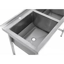 Ванна моечная 2-секционная 1200х600 мм без полки